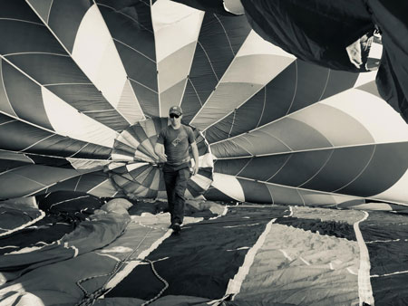 inside of a hot air balloon - History